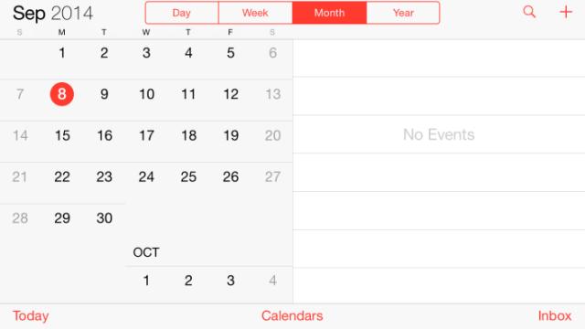 iOS 8 landscape 2