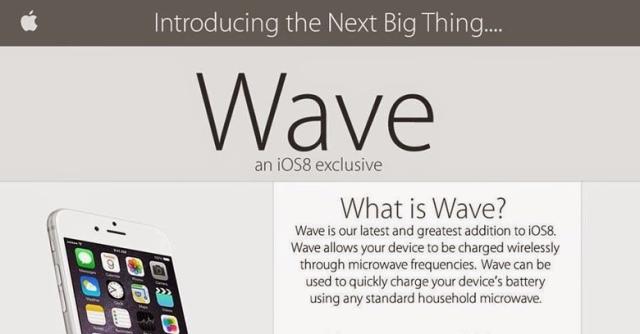 Wave, la nueva característica de iOS 8