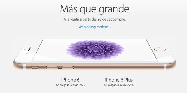venta iPhone 6