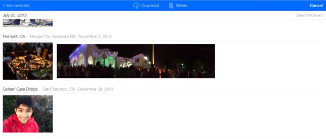 Fotos iCloud Beta 2