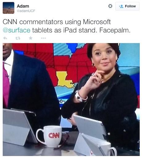 Ipad-CNN-tweet