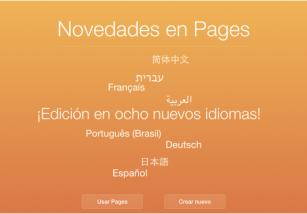iWork para iCloud se actualiza con ocho nuevos idiomas y unas cuantas mejoras más