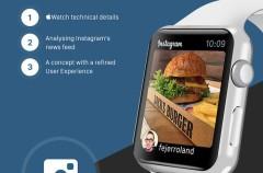 Instagram en el Apple Watch podría ser algo así
