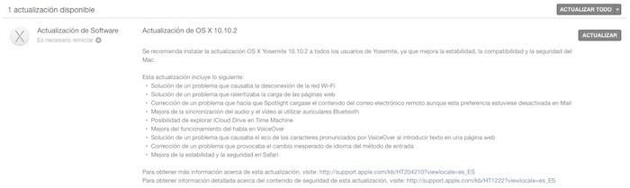 Apple lanza OS X Yosemite 10.10.2