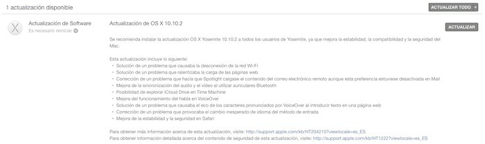 Apple lanza OS X Yosemite 10.10.2