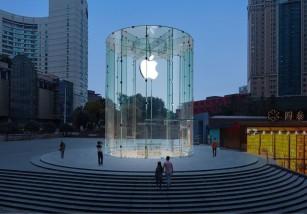 Así luce la Apple Store de Chongqing a unas horas de su inauguración