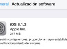 iOS 8.1.3, ya disponible