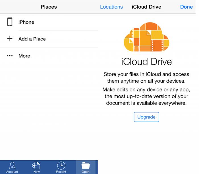 Office para iOS se actualiza con soporte en iCloud Drive