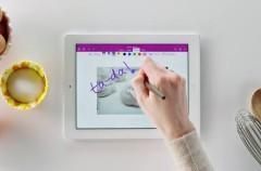 Ya puedes añadir notas en OneNote para iPad al estilo Surface
