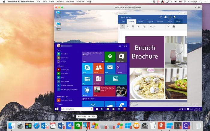 Windows diez Parallels