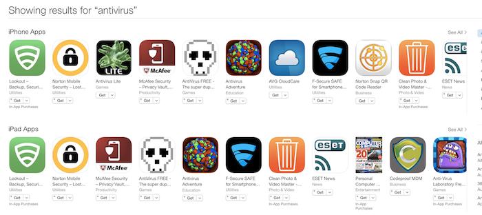 Antivirus App Store