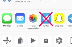 Compartir en Twitter desaparece en la última beta de iOS