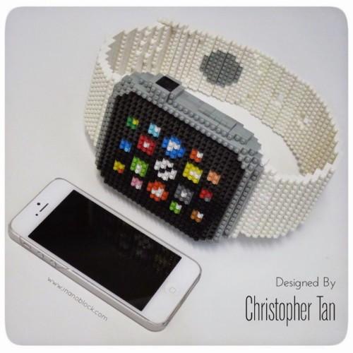 Un artista recrea el Apple Watch en una escultura de 800 piezas