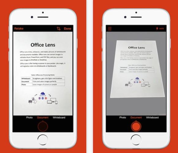 Office Lens de Microsoft llega ahora también al iPhone