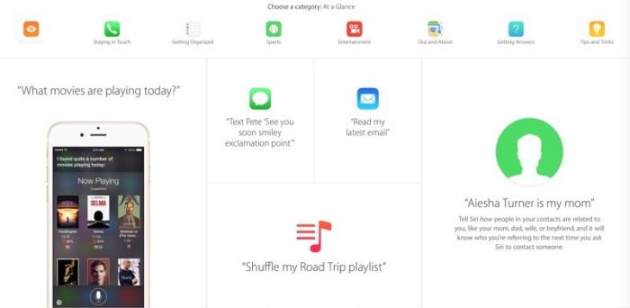 Siri Webpage