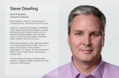 Apple nombra a Steve Dowling como Vicepresidente de Comunicaciones de la empresa