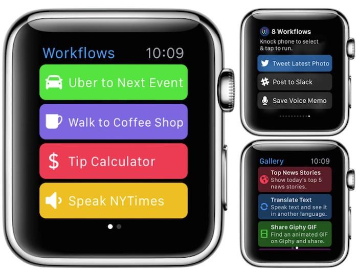 Workflow se actualiza a la versión 1.2 añadiendo soporte para el Apple Watch