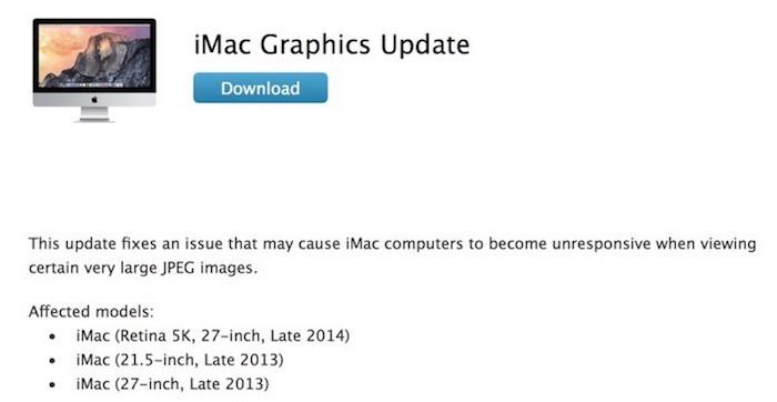 iMac graphics update 2