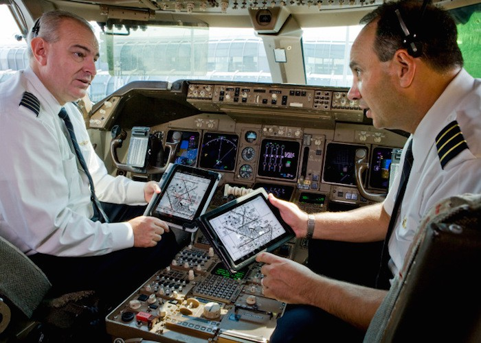 iPad avión 1
