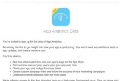 Apple está trabajando en una app de análisis para desarrolladores de la App Store