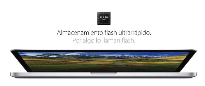 El fuerte de los nuevos MacBook Pro con Pantalla Retina de 15 pulgadas está en su Disco Duro
