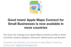 Maps Connect se actualiza con cinco nuevos países europeos