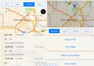 Los mapas de tránsito en iOS 9 incluirán unas pocas ciudades de Estados Unidos, Europa y China