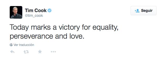 Tim Cook Pride tweet