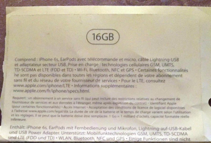 iPhone6s16Gb