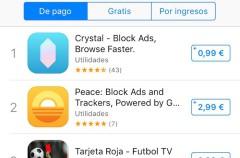 Los bloqueadores de contenido ya copan la lista de éxitos de la App Store española
