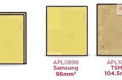 Apple utiliza chips de distinto tamaño en los nuevos iPhone 6s