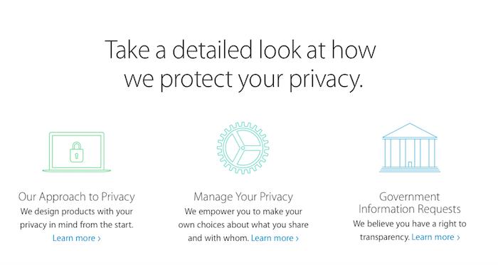 Privacidad en Apple