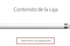 El Apple Pencil viene con una punta de recambio… pero no se puede comprar por separado