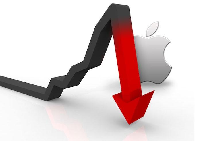 Apple-Stock-down