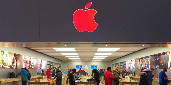 Apple logo rojo