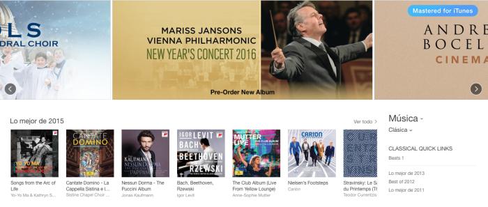iTunes Clásica
