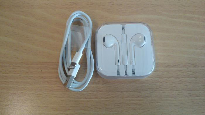 EarPods lightning cable
