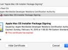 Algunos certificados de Apple para instaladores están caducando