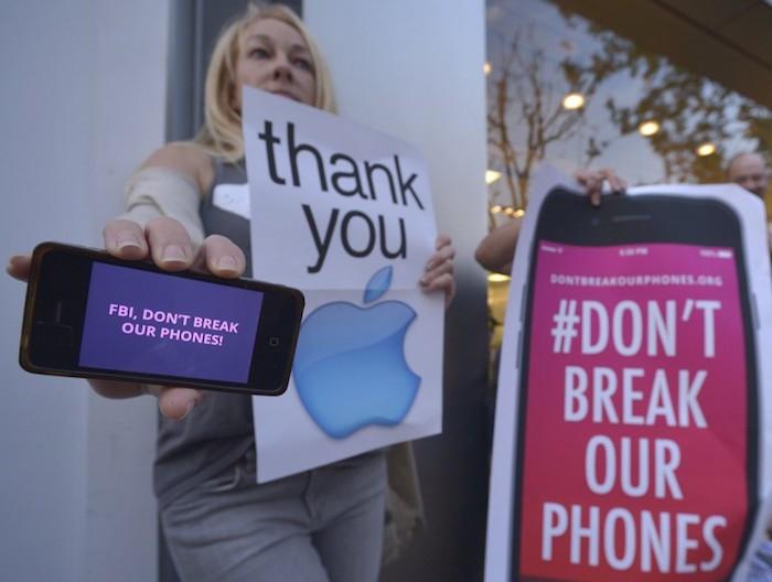 Manifestación Apple