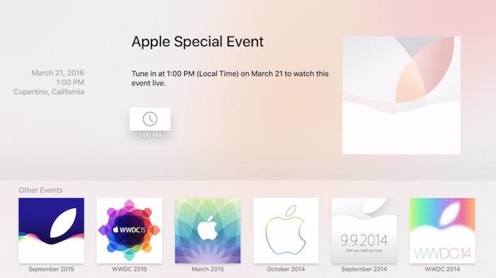 Evento 21 Marzo Apple TV