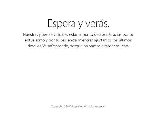 Mensaje Apple Store cerrada