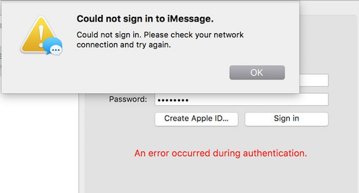 iMessage OS X 10.11.4