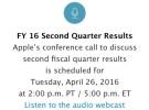 Apple retrasa la conferencia de prensa de su último Trimestre Fiscal