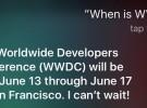 Siri anuncia oficialmente la fecha en la que se celebrará la WWDC el próximo mes de junio