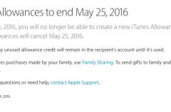 Apple cierra iTunes Allowances