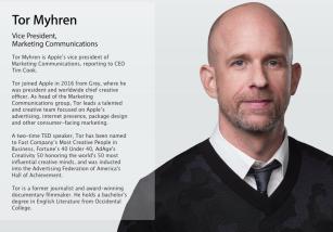 Apple ficha a Tor Myhren y a Yoky Matsuoka para su cúpula de ejecutivos
