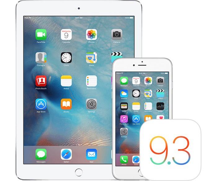 iOS 9.3 dispositivos
