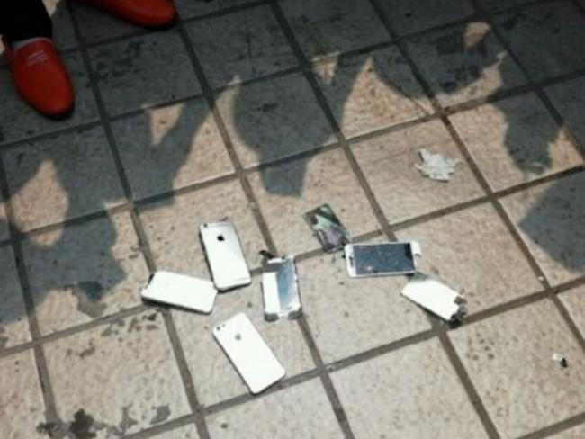 iPhones rotos china