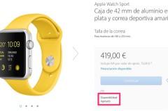 ¡Que viene el Apple Watch 2! varios modelos del Apple Watch aparecen ya como agotados en la web de Apple