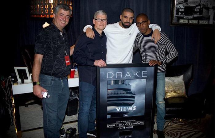El disco Views, de Drake, supera la barrera de los mil millones de reproducciones en Apple Music